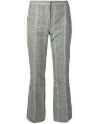 Pantaloni crop a quadri di Alexander McQueen in Gray