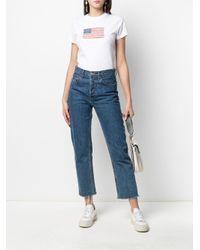 Camiseta con bandera de EE.UU. Polo Ralph Lauren de color White