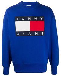 メンズ Tommy Hilfiger ロゴ スウェットシャツ Blue