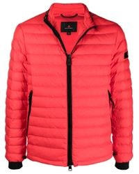 Peuterey Red Padded Zip-up Down Jacket for men