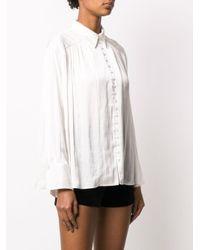 Zadig & Voltaire Tent サテンシャツ White