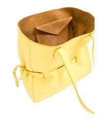 Jil Sander Yellow Bucket Tote Bag