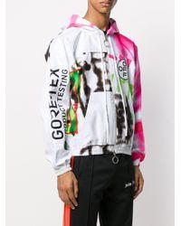 メンズ Off-White c/o Virgil Abloh グラフィティプリント フーデッドジャケット Multicolor