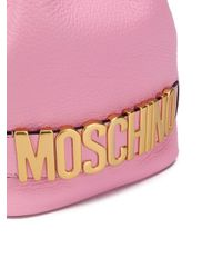 Moschino ロゴ バケットバッグ Pink