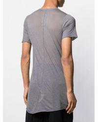 T-shirt long à effet de transparence Rick Owens pour homme en coloris Blue