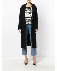 Dolce & Gabbana - Black Textured Maxi Coat - Lyst