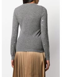N°21 Gray Pullover mit Kristallen