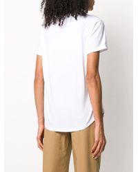 Luisa Cerano White Crew Neck Slogan Print T-shirt