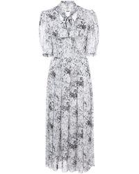 Adam Lippes White Bow Neck Midi Dress