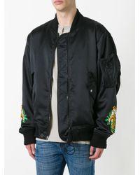 Off-White c/o Virgil Abloh Black Tiger Embroidered Bomber Jacket for men
