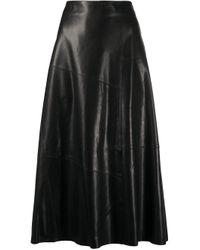 Falda acampanada Arma de color Black