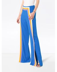 Rosie Assoulin ストライプ フレアパンツ Blue