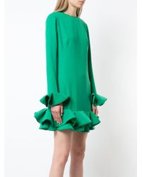 Nha Khanh - Green Ruffled Hem Dress - Lyst