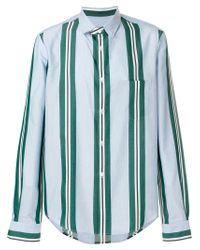 Chemise à rayures Golden Goose Deluxe Brand pour homme en coloris Blue