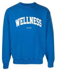 Sporty & Rich スローガン スウェットシャツ Blue