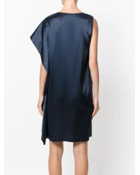 Gianluca Capannolo Blue One Shoulder Dress