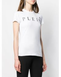 Philipp Plein White T-Shirt mit Logo-Print