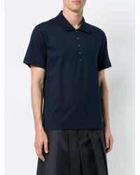 Рубашка-поло На Пуговицах Thom Browne для него, цвет: Blue