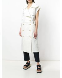3.1 Phillip Lim - White Utility Belted Trench Vest - Lyst