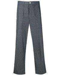 Thom Browne Blue Cargo Pocket Pinstripe Trouser for men