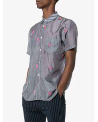 メンズ Comme des Garçons エンブロイダリーシャツ Gray