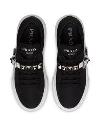 Prada Black Sneakers mit Plateau