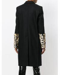 A.F.Vandevorst - Black Leopard Print Sleeves Coat - Lyst