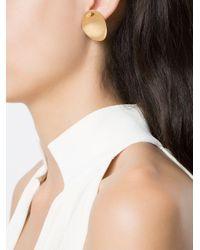 Egrey + Maneca Petal Earrings Metallic