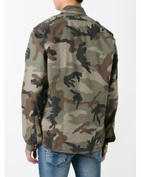 History Repeats | Green Camouflage Print Shirt for Men | Lyst