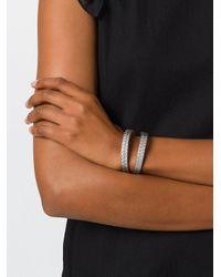 DIESEL - Metallic Geometric Embossed Bracelet - Lyst
