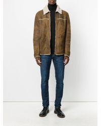 DROMe Brown Fur Collar Jacket for men