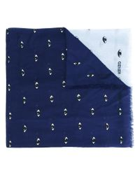 KENZO - Blue Eyes Scarf for Men - Lyst