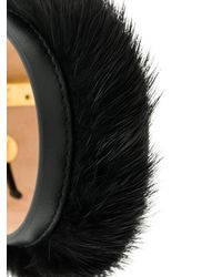 Ferragamo - Black Adjustable Fur Bracelet - Lyst