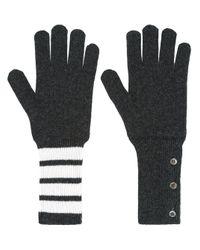 メンズ Thom Browne ニット手袋 Black