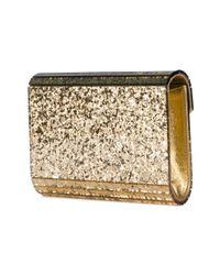 Jimmy Choo Metallic Patent Glitter Clutch