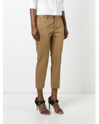 DSquared² Natural Cropped Trousers