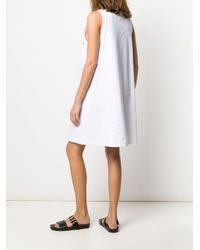 Robe longue sans manches Prada en coloris White