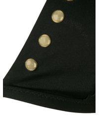 Moschino Black Studded Bikini Top