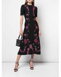 Vestito a fiori di Oscar de la Renta in Black