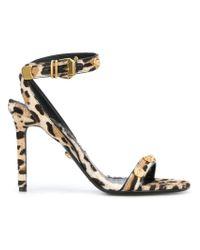 Versace Brown Leopard Print Sandals