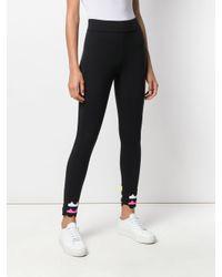 No Ka 'oi Black Scalloped Cuffs Sports leggings