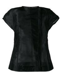 Rick Owens - Black Short Sleeve Jacket - Lyst