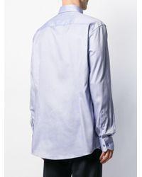 メンズ Eton of Sweden ポインテッドカラー シャツ Blue