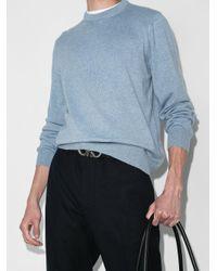 Джемпер С Круглым Вырезом Ferragamo для него, цвет: Blue