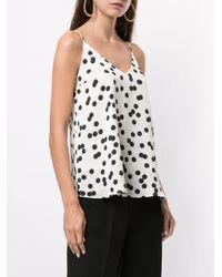 Racil White Gepunktetes Camisole-Top