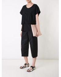 Nehera Black Front Slit Culottes