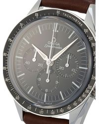 Наручные Часы Speedmaster Chronograph Pre-owned 44.25 Мм 2020-го Года Omega для него, цвет: Black