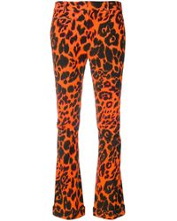 R13 Yellow Leopard Print Trousers