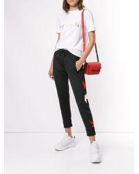 Être Cécile White Frenglish Embroidery T-shirt