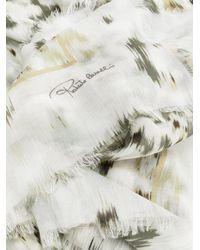 Roberto Cavalli Multicolor Leopard Print Scarf